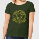 Harry Potter Slytherin Snake Badge Women's T-Shirt - Forest Green