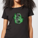 Harry Potter Slytherin Geometric Women's T-Shirt - Black
