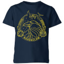 Harry Potter Ravenclaw Raven Badge Kids' T-Shirt - Navy