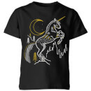 Harry Potter Unicorn Kids' T-Shirt - Black