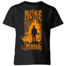 Harry Potter Neither Can Live Kids' T-Shirt - Black