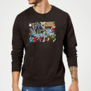 Justice League Crisis On Infinite Earths Cover Sweatshirt - Black