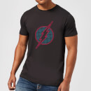 Justice League Flash Retro Grid Logo Men's T-Shirt - Black