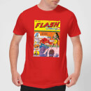 Justice League The Flash Issue One Men's T-Shirt - Red