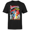 Justice League Who Is The Fastest Man Alive Cover Men's T-Shirt - Black