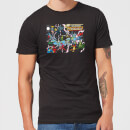 Justice League Crisis On Infinite Earths Cover Men's T-Shirt - Black