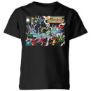 Justice League Crisis On Infinite Earths Cover Kids' T-Shirt - Black