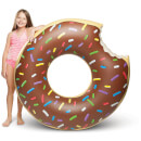 Giant Chocolate Donut Float