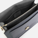 Coach Women's Mixed Leather with Polished Pebble Tabby Shoulder Bag - Midnight Navy
