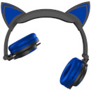 Live Love Music Light Up Cat LED Headphones - Blue