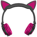 Live Love Music Light Up Cat LED Headphones - Pink