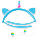 Live Love Music Light Up Unicorn LED Bluetooth Headphones - Blue