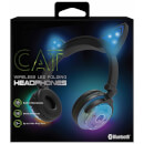 Live Love Music Light Up Cat LED Bluethooth Headphones - Blue