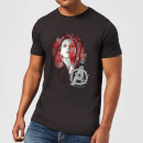 Avengers Endgame Black Widow Brushed Men's T-Shirt - Black