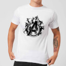 Avengers Endgame Hero Circle Men's T-Shirt - White
