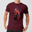 Marvel Spider-man Web Wrap Men's T-Shirt - Burgundy