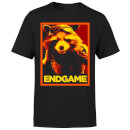 Avengers Endgame Rocket Poster Men's T-Shirt - Black