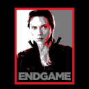 Avengers Endgame Black Widow Poster Men's T-Shirt - Black