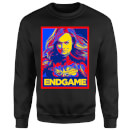 Avengers Endgame Captain Marvel Poster Sweatshirt - Black