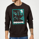 Avengers Endgame War Machine Poster Sweatshirt - Black