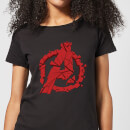 Avengers Endgame Shattered Logo Women's T-Shirt - Black