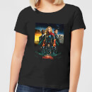 Captain Marvel Movie Starforce Poster Women's T-Shirt - Black
