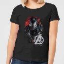 Avengers Endgame War Machine Brushed Damen T-Shirt - Schwarz