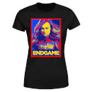 Avengers Endgame Captain Marvel Poster Women's T-Shirt - Black