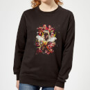 Avengers Endgame Distressed Thanos Women's Sweatshirt - Black