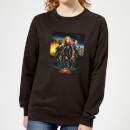 Captain Marvel Movie Starforce Poster Women's Sweatshirt - Black
