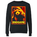 Avengers Endgame Rocket Poster Women's Sweatshirt - Black