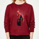 Marvel Spider-man Web Wrap Women's Sweatshirt - Burgundy