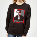 Avengers Endgame Black Widow Poster Women's Sweatshirt - Black
