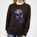 Avengers Endgame Thanos Brushed Damen Sweatshirt - Schwarz