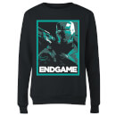 Avengers Endgame War Machine Poster Women's Sweatshirt - Black