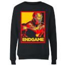 Avengers Endgame Iron Man Poster Women's Sweatshirt - Black
