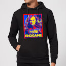 Avengers Endgame Captain Marvel Poster Hoodie - Black