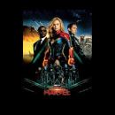 Captain Marvel Movie Starforce Poster Hoodie - Black