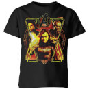 T-shirt Avengers Endgame Distressed Sunburst - Enfant - Noir