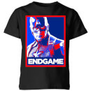 Avengers Endgame Captain America Poster Kids' T-Shirt - Black
