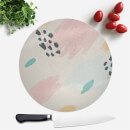 Crayon Pattern Dots And Scribbles Round Chopping Board