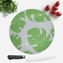 Palm Leaves Round Chopping Board