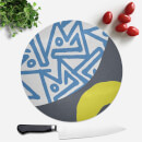 Abstract Blue And Green Pattern Round Chopping Board