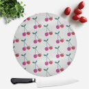 Cherry Pattern Round Chopping Board