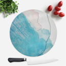 Wish Wash With Blue Line Round Chopping Board