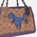 Coach 1941 Women's Coated Canvas Signature Rexy by Zhu Jingyi Dreamer 21 Bag - Tan Dusty Lavender
