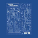Transformers Optimus Prime Schematic Women's T-Shirt - Royal Blue