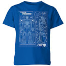 Transformers Optimus Prime Schematic Kids' T-Shirt - Royal Blue