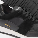 Paul Smith Men's Pioneer Leather Running Style Trainers - Black