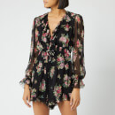 Zimmermann Women's Honour Floating Playsuit - Black Floral